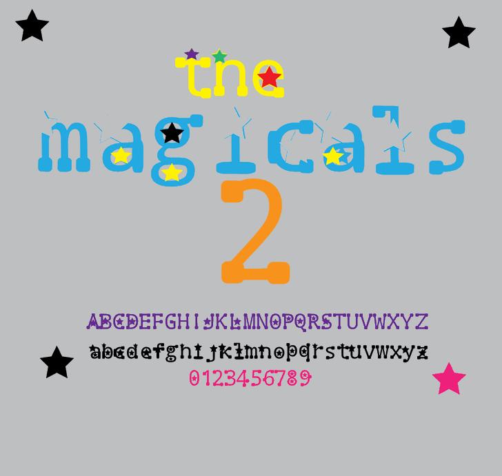 the magicals 2 Font cartoon design