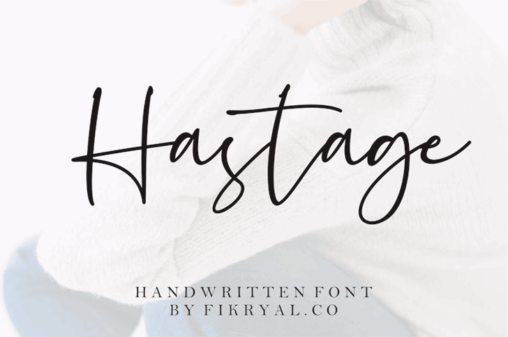 Hastage Font handwriting text