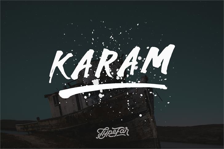 Karam Font design typography