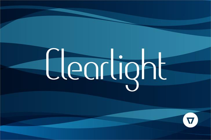 Clearlight Font screenshot design