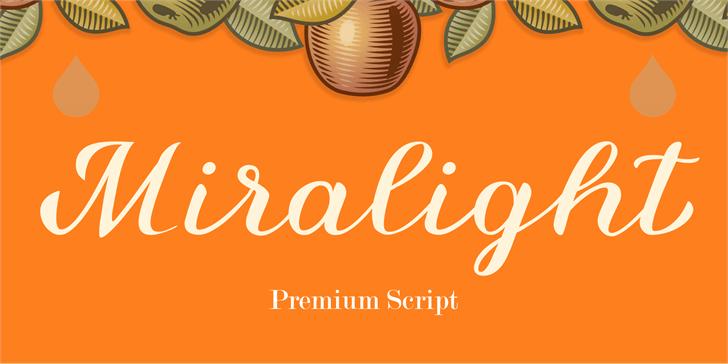 Miralight Demo Font design vector graphics