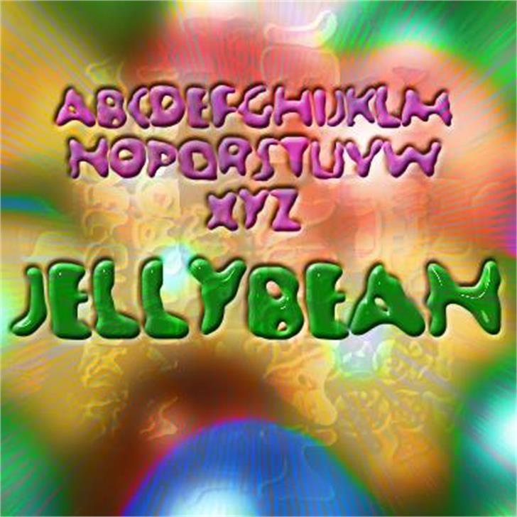Jellybean Font screenshot light