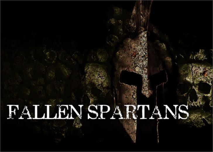 Fallen Spartans Font screenshot dark