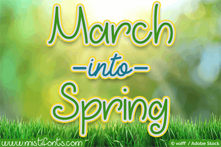 March into Spring Font text typography