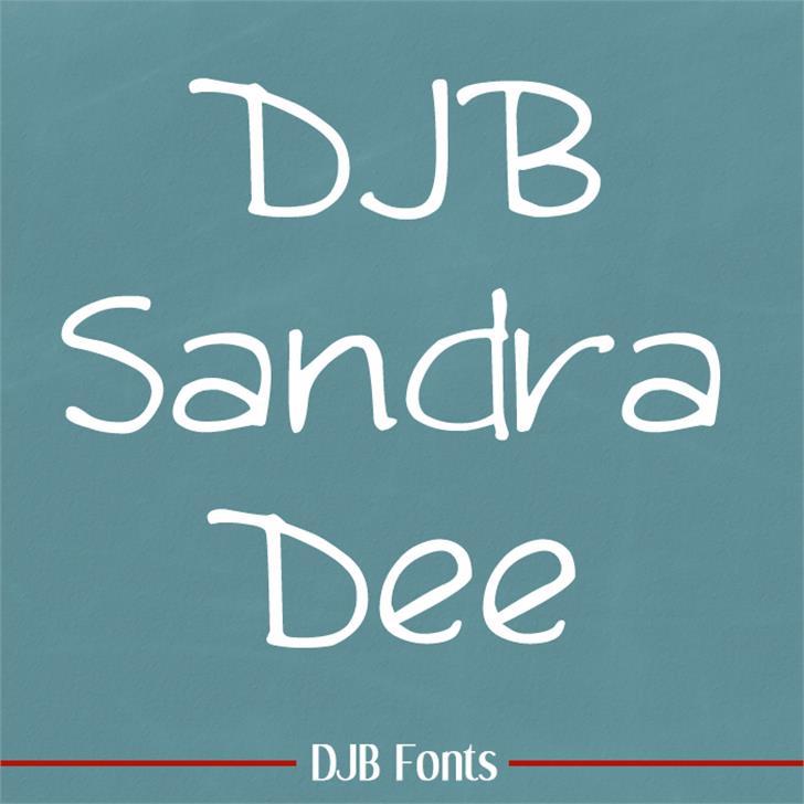 DJB Sandra Dee Font blackboard handwriting