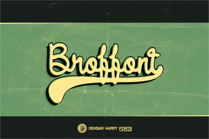 DHF Broffont Script font by Dexsar Harry Anugrah