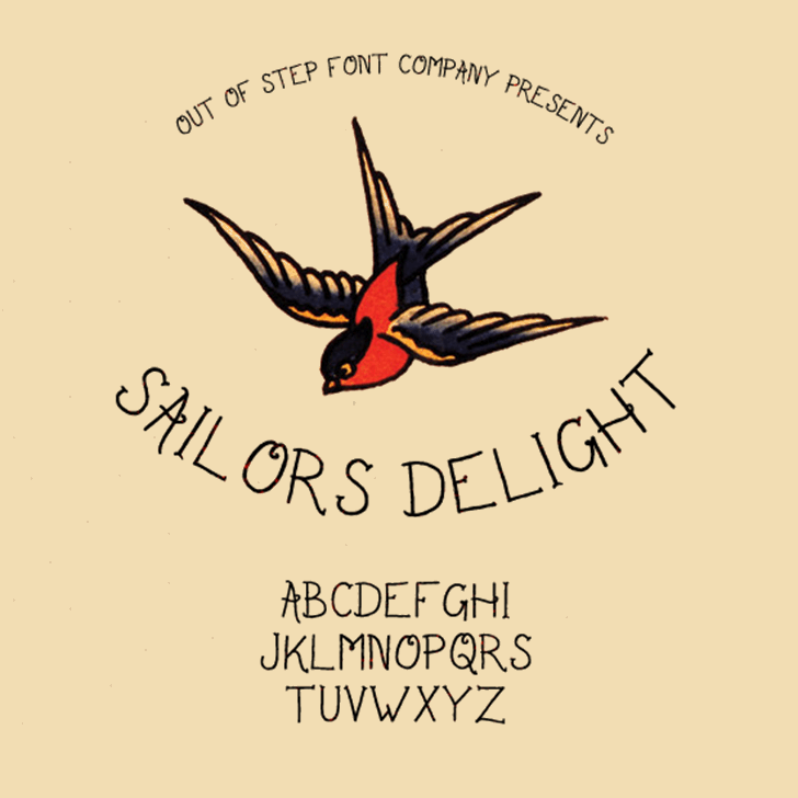 Sailor's Delight Font bird text