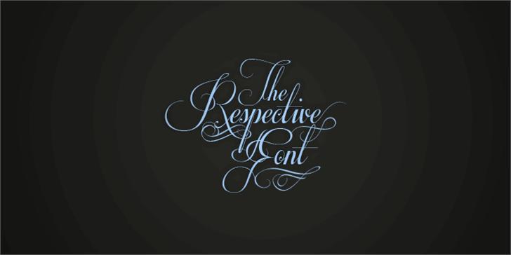 Respective Font design handwriting