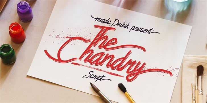 Chandry Font table handwriting