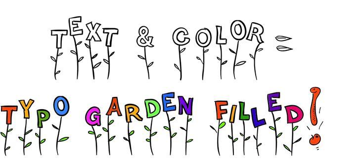 Typo Garden Demo Font design illustration