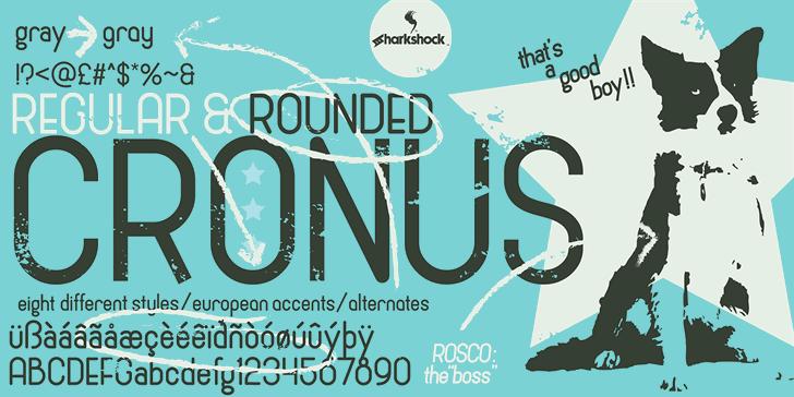 Cronus Font poster design