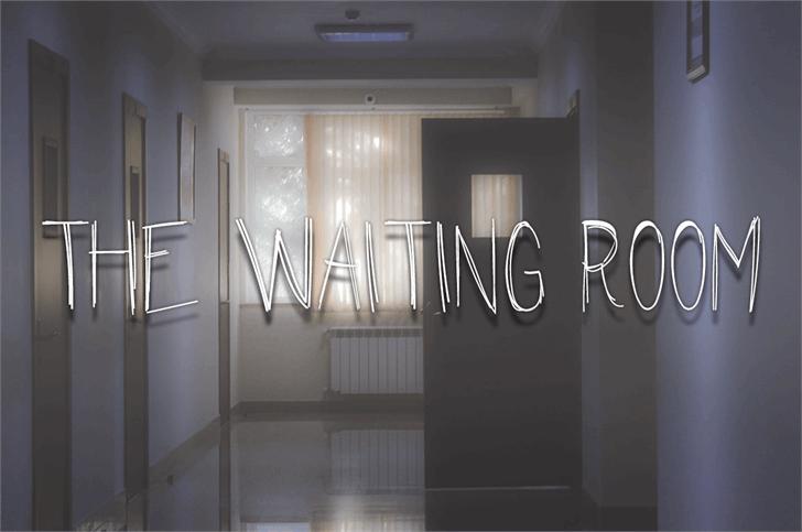 The Waiting Room Font wall indoor