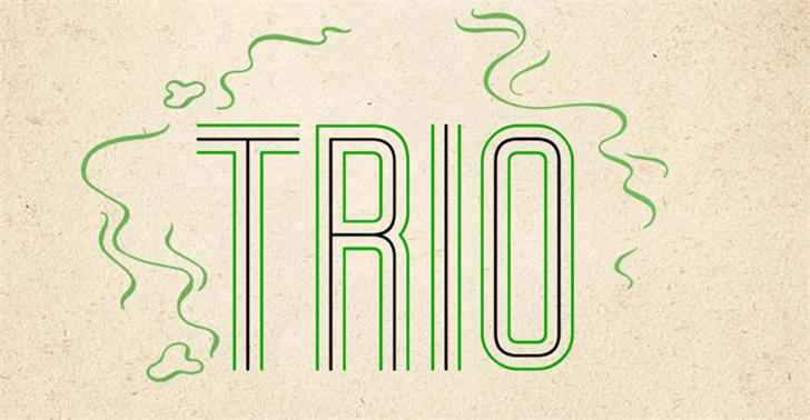 Trio Font design illustration