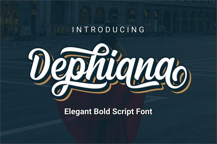 Dephiana Font screenshot