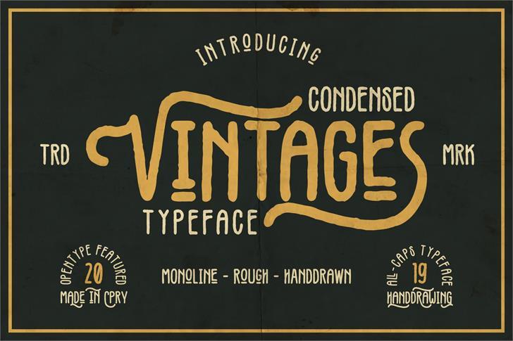 Vintages Font poster text