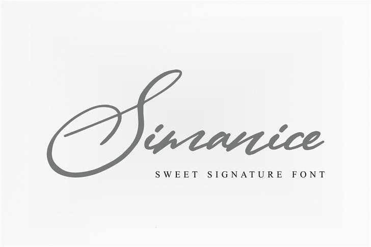 Simanice Font handwriting