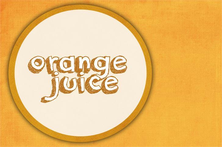orange juice Font typography design
