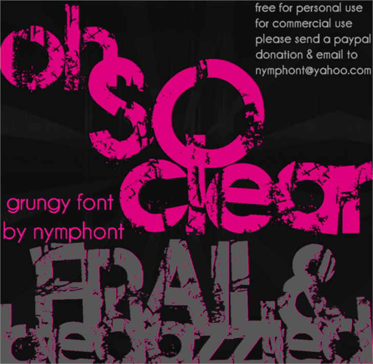 Frail & Bedazzled Font poster cartoon