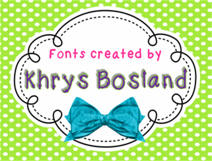 KBKinderWrite Font cartoon design