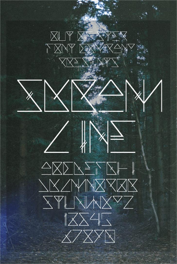 Skramline Font design poster