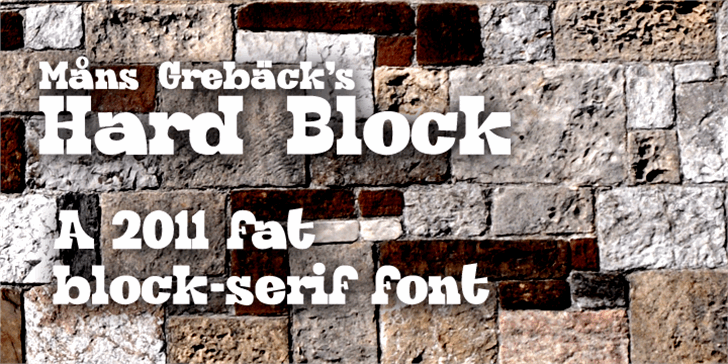 Hard Block Font building wall