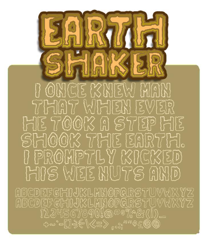Earthshaker Font poster screenshot