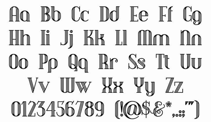 Debonair Inline font by Nick's Fonts