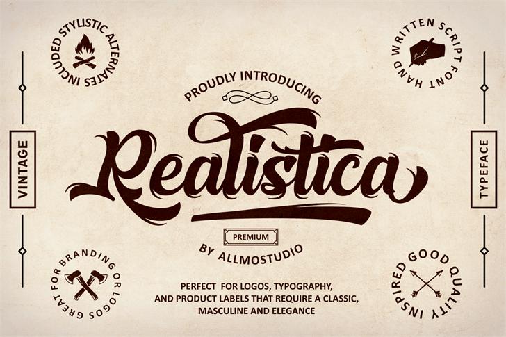Realistica Demo Font typography