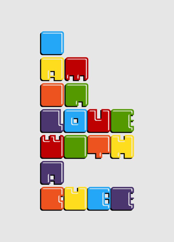 Cubes font by IP ART