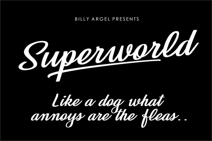 Superworld Personal Use Font design text