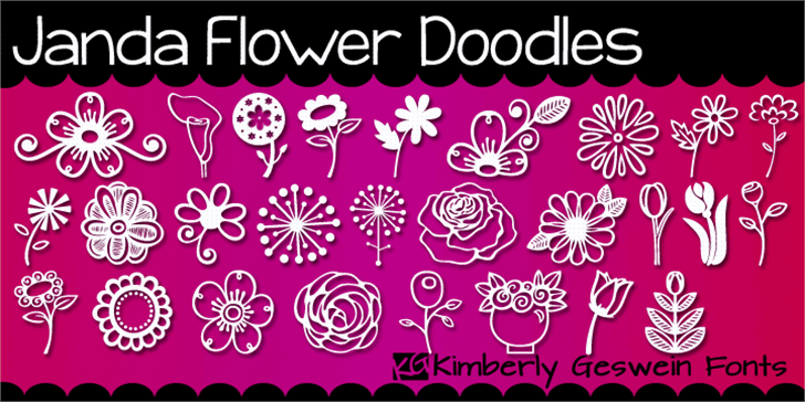 Janda Flower Doodles Font design flower