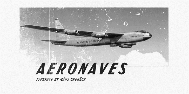 Aeronaves PERSONAL USE ONLY Font poster