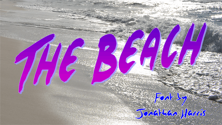 The Beach font by Jonathan S. Harris