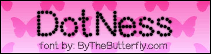DotNess Font screenshot magenta