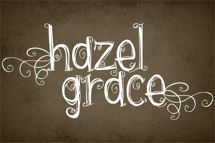 {hazel grace} font by Brittney Murphy Design