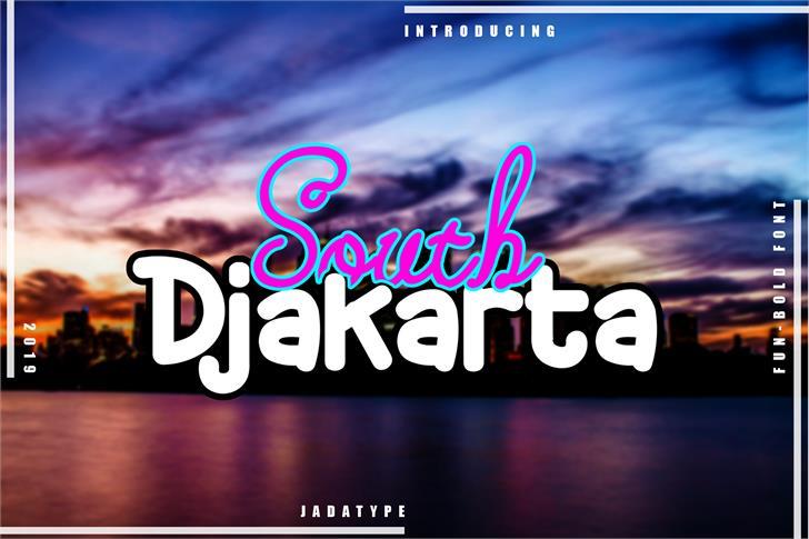 South Djakarta Font poster