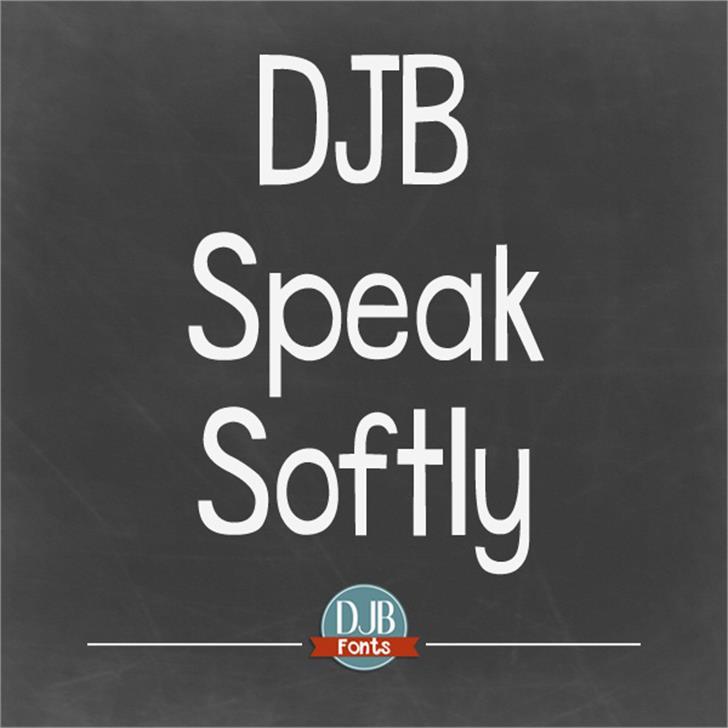 DJB Speak Softly Font screenshot poster