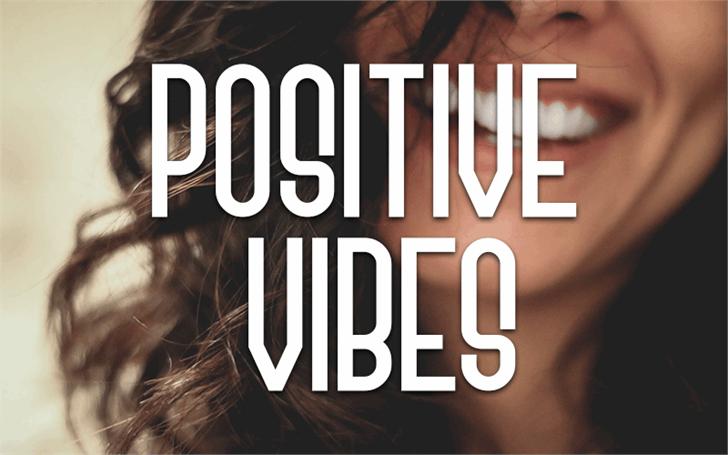 Positive Vibes Font poster screenshot