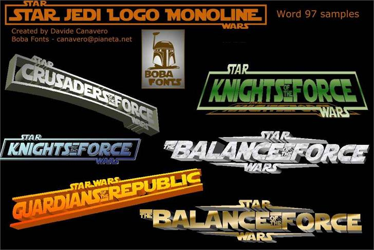 Star Jedi Logo Font poster screenshot