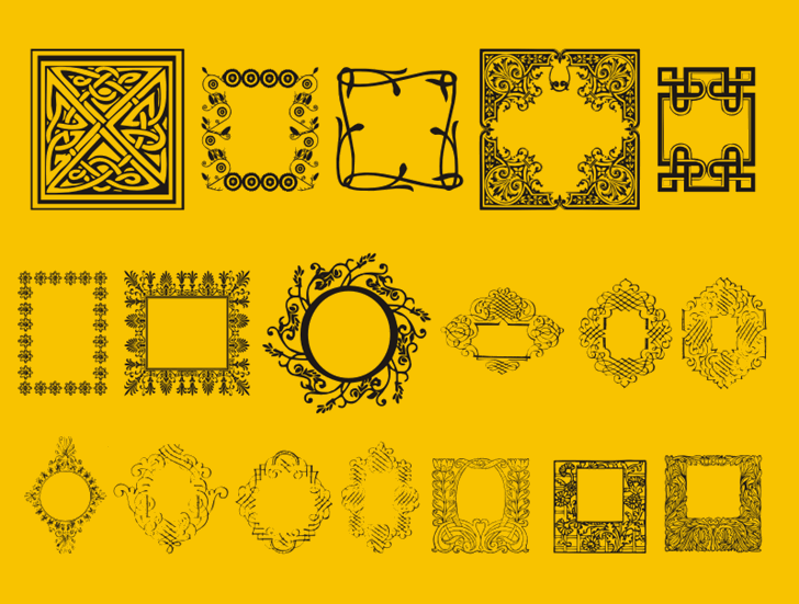 CaixinhasDecorativas Font design illustration