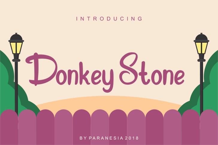 Donkey Stone font by Paranesia