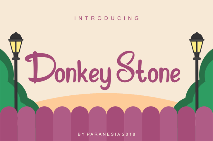 Donkey Stone Font cartoon design