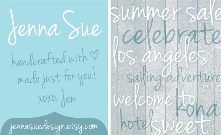 Jenna Sue Font handwriting text