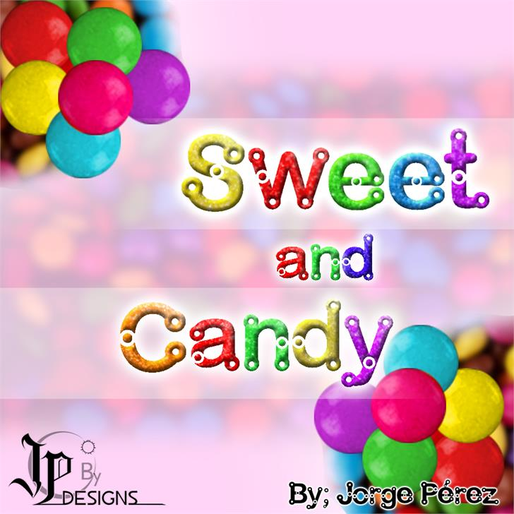 Sweet and Candy Font cartoon balloon