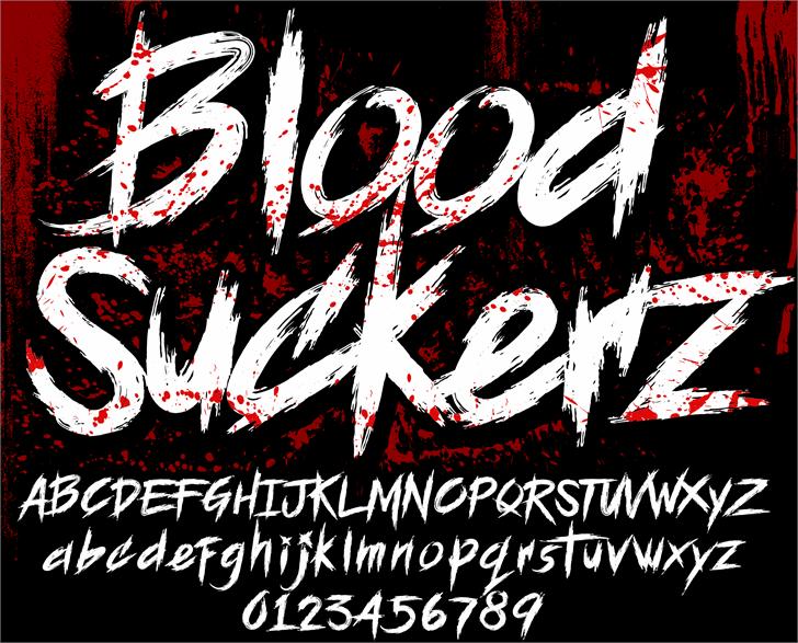 BLOODSEEKER DEMO Font text book