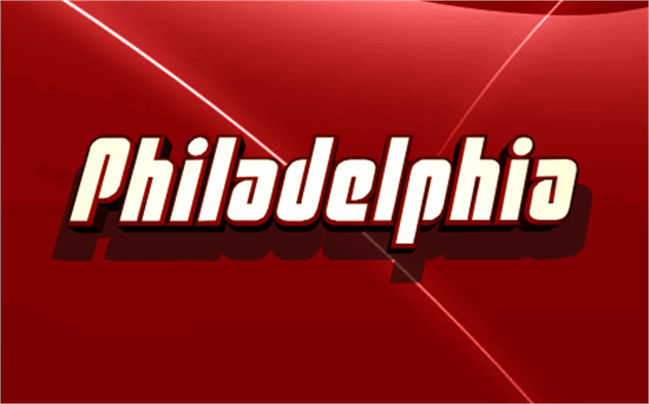 Philadelphia Font text