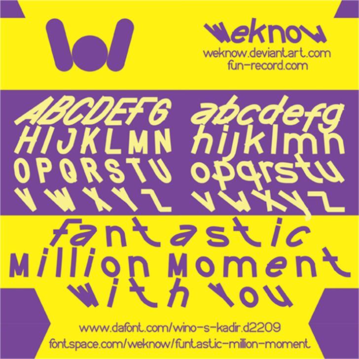 FUNTASTIC MILLION MOMENT Font poster text