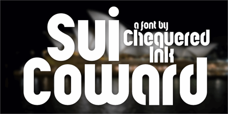 Sui Coward Font screenshot design