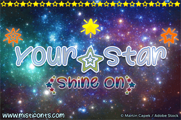 Your Star font by Misti's Fonts