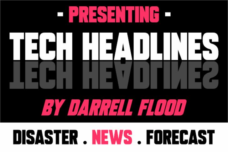 Tech Headlines font by Darrell Flood